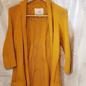 Anthropologie Angel of the North long cardigan S